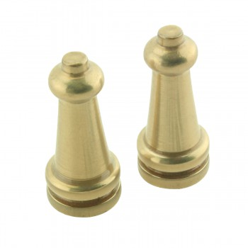 Brass Stair Carpet Rod Ball Finial Towel Tip Pair 17286grid