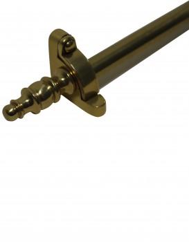 <PRE>Brass Stair Carpet Rod Finial Scepter Tip Pair </PRE>zoom4