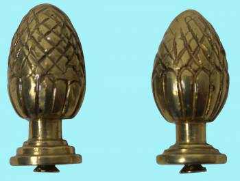 <PRE>Brass Stair Carpet Rod Ball Finial Pineapple Tip Pair </PRE>zoom2