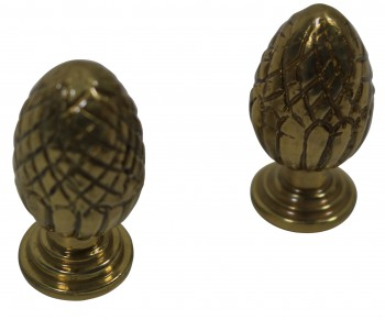 <PRE>Brass Stair Carpet Rod Ball Finial Pineapple Tip Pair </PRE>zoom3