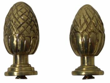 Brass Stair Carpet Rod Ball Finial Pineapple Tip Pair 17288grid