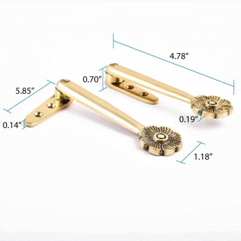 spec-<PRE>Carpet Runner Stair Holder Clips Pair Solid Brass Finish </PRE>