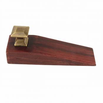 Door Wedge Solid Mango Wood Oil Rubbed Bronze Knob Cherry 17300grid