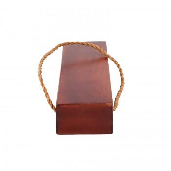 Cherry Door Wedge Solid Mango Wood Leather Hanging Loop Wooden Door Wedges Door Wedge Stop Decorative Door Stops
