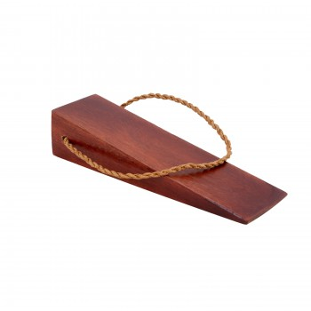 Cherry Door Wedge Solid Mango Wood Leather Hanging Loop 17304grid
