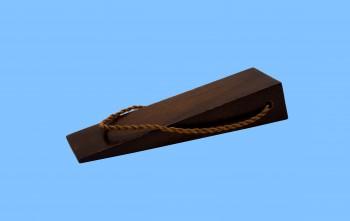 <PRE>Door Wedge Solid Mango Wood Leather Hanging Loop Brown </PRE>zoom3