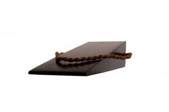 <PRE>Door Wedge Solid Mango Wood Leather Hanging Loop Brown </PRE>zoom5