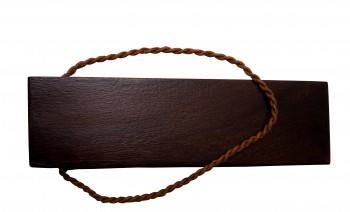 <PRE>Door Wedge Solid Mango Wood Leather Hanging Loop Brown </PRE>zoom6