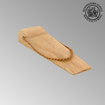 <PRE>Door Wedge Solid Mango Wood Leather Hanging Loop Natural </PRE>zoom2