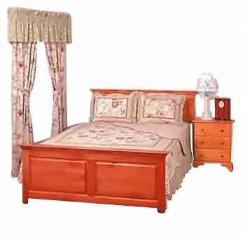 Shaker Unfinished Pine Footboard King Unfinished Pine Kit173510grid