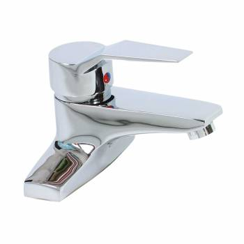 <PRE>Bathroom Faucet Chrome Plated Centerset 4 3/16inchH 1 Handle </PRE>zoom1