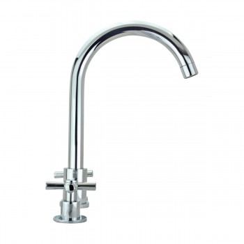 <PRE>Kitchen Faucet Chrome Cross 2 Handles Widespread  </PRE>zoom5