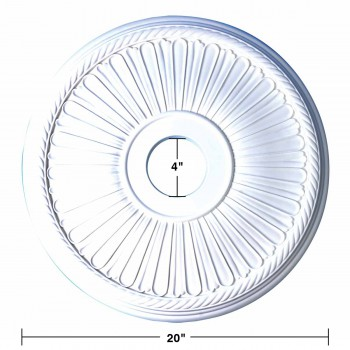 "spec-<PRE>Ceiling Medallion White Urethane 20"" Diameter  </PRE>"