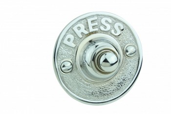 Door Bell Chrome Embossed PRESS Round Bell 17388grid