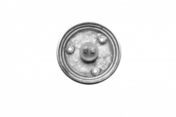 <PRE>Door Bell Push Button Chrome Round Push Plate </PRE>