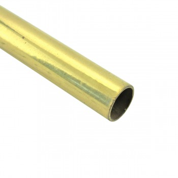 Smooth Bright Brass Stair Carpet Rod Tubing 1/2