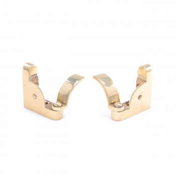 <PRE>Pair Carpet Stair Rod Brackets Solid Brass Swivel Hinge </PRE>zoom2