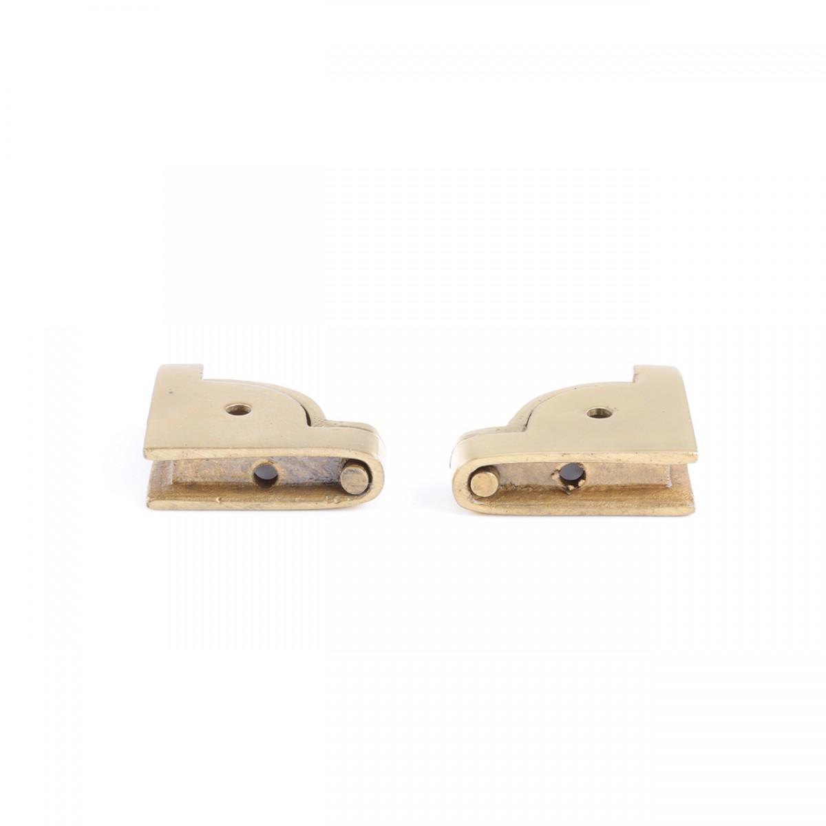 U003cPREu003ePair Carpet Stair Rod Brackets Solid Brass Swivel Hinge ...