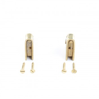 <PRE>Pair Carpet Stair Rod Brackets Solid Brass Swivel Hinge </PRE>zoom3