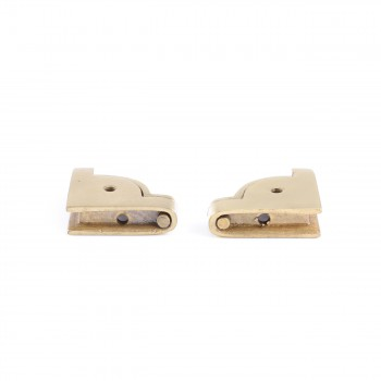 <PRE>Pair Carpet Stair Rod Brackets Solid Brass Swivel Hinge </PRE>zoom6