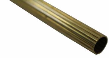 Brass Stair Carpet Rod Reed Tube 12 OD 36