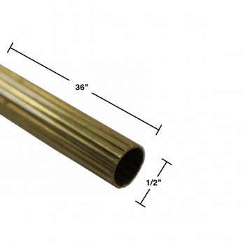 spec-<PRE>Brass Stair Carpet Rod Reed Tube 1/2&quot; OD 36&quot; </PRE>