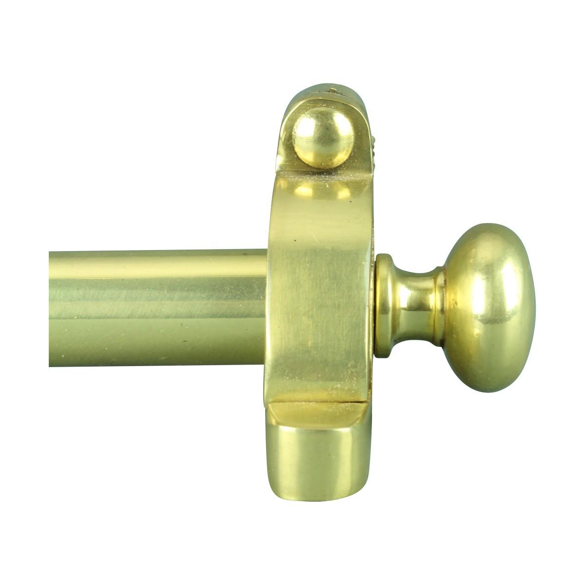 Ball Tip Stair Carpet Rod Set Bright Brass 36 Inch L 12 Inch D Carpet Rods for Stairs Carpet Rod Set Brass Bright Brass Stair Carpet Rod