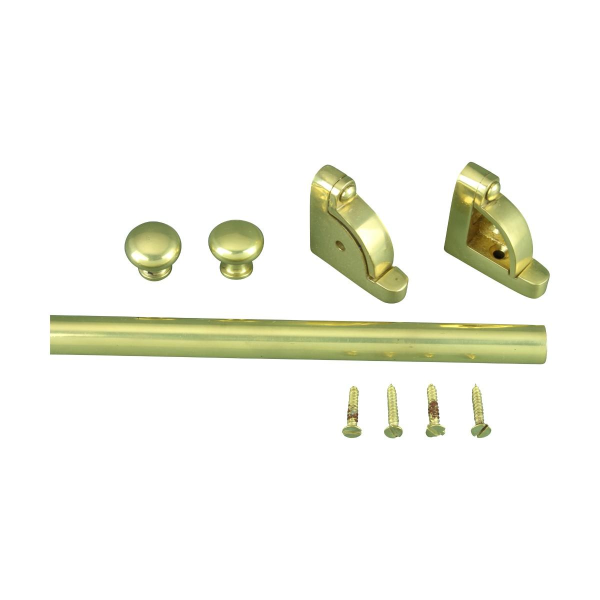 Ball Tip Stair Carpet Rod Set Bright Brass 36 Inch L 1 2