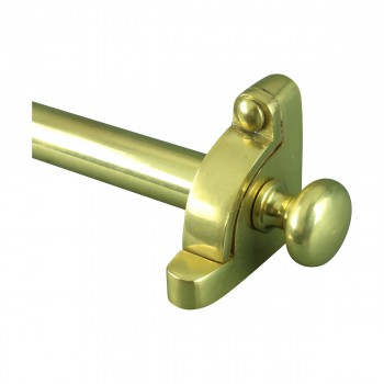 12 D Bright Brass Stair Carpet Rod Set 36 L Ball Tip