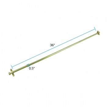 spec-<PRE>Ball Tip Stair Carpet Rod Set Bright Brass 36 Inch L 1/2 Inch D</PRE>