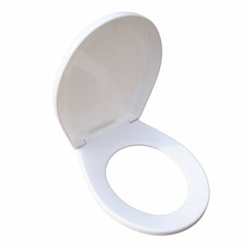 Toilet Seat Replacement White Molded Plastic Child Sized 17423grid