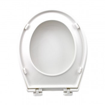 Child Sized Toilet Seat Replacement White Molded Plastic novelty decorative replacement loo commode lavatory custom unusual luxury quality standard color design pretty