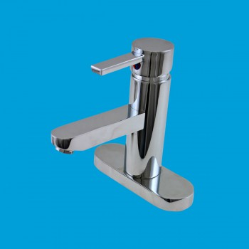 Orly Single Lever Faucet Center Set Chrome - Glass sinks, Glass sink info & unique Glass accessories, quantity discounts on Glass sinks, Glass pedestal sinks, Glass wall mount sinks, Glass console sinks, counter top Glass sinks, Glass counter top sinks, Glass pedestal sinks, bathroom fixtures, Glass bathroom sinks, sink faucets & free shipping by Renovator's Supply.