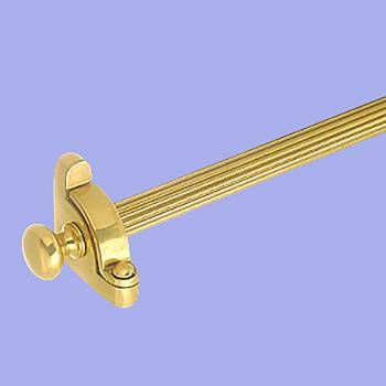<PRE>Carpet Rod Set Brass RSF 36&quot; Reed Tubing Ball Finial </PRE>