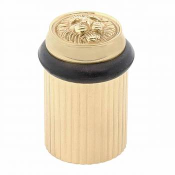 Brass Door Stop Floor Mount BumperLion Head