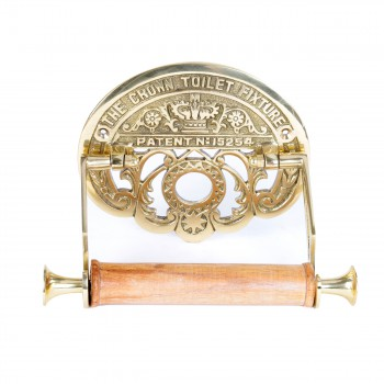The Crown Toilet Fixture Tissue Holder Brass P/L