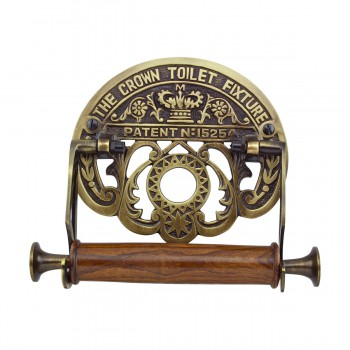 Toilet Paper Holder Antique Brass Crown Tissue Holder