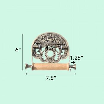 spec-<PRE>Toilet Paper Holder Antique Brass Crown Tissue Holder </PRE>