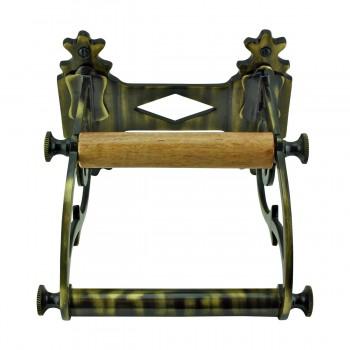 <PRE>Toilet Paper Holder Antique Brass Victorian Tissue Holder </PRE>zoom4