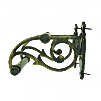 <PRE>Toilet Paper Holder Antique Brass Victorian Tissue Holder </PRE>zoom5