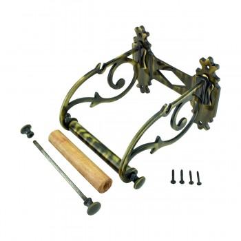 <PRE>Toilet Paper Holder Antique Brass Victorian Tissue Holder </PRE>zoom9