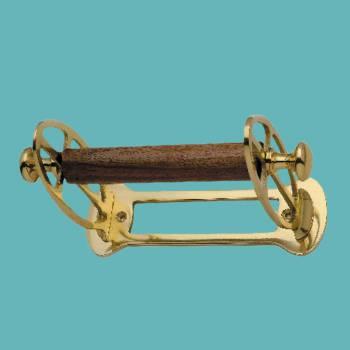 <PRE>Antique Toilet Paper Holder Polished Brass Tissue Holder </PRE>zoom2