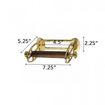 spec-<PRE>Antique Toilet Paper Holder Polished Brass Tissue Holder </PRE>