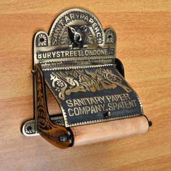 <PRE>Brass Toilet Paper Tissue Holder Antique Brass inchSanitary Paper Co.&quot; </PRE>zoom3