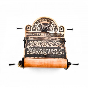 <PRE>Brass Toilet Paper Tissue Holder Antique Brass inchSanitary Paper Co.&quot; </PRE>zoom4