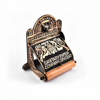 <PRE>Brass Toilet Paper Tissue Holder Antique Brass inchSanitary Paper Co.&quot; </PRE>zoom5