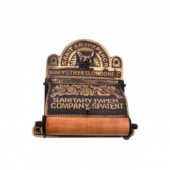 <PRE>Brass Toilet Paper Tissue Holder Antique Brass inchSanitary Paper Co.&quot; </PRE>zoom8