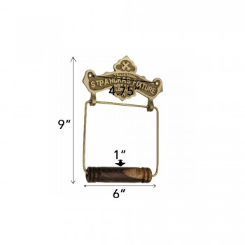 spec-<PRE>Antique Toilet Paper Holder Brass St Pancras Tissue Holder </PRE>