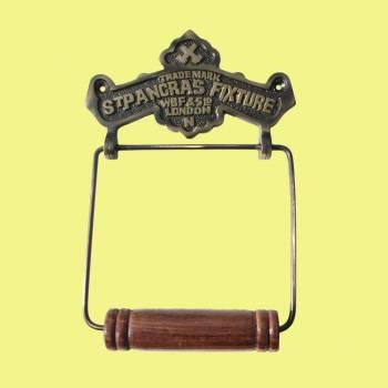 <PRE>Toilet Paper Holder Antique Brass St Pancras Tissue Holder </PRE>