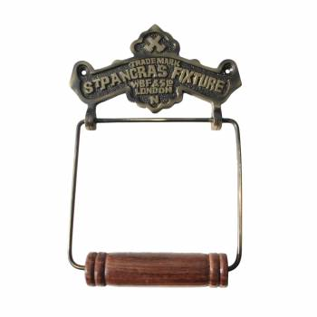St Pancras Fixture  Tissue Holder Antique Brass